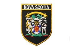 NOVA SCOTIA Black Shield CANADA Provincial FLAG Iron-On PATCH CREST BADGE