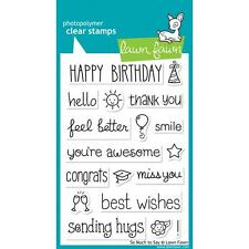"""Lawn Fawn """"SO MUCH TO SAY"""" Clear Photopolymer Stamps Set"""