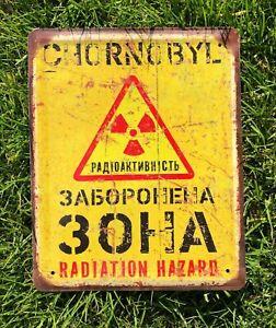 Chernobyl zone, Danger sign, Vintage Look Radioactive, Warning Sign, Chernobyl