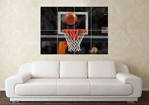 Large Basketball Hoop Ball NBA Giants Sport Wall Poster Art Picture Print