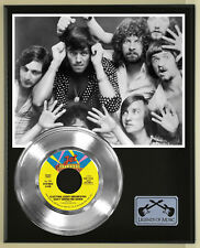 """Elo """"Dont Bring Me Down"""" Silver Record Display Wood Plaque"""