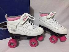 Girls White & Pink Size 3 Pacer Charger Roller Skates P970G in box 54 mm NICE