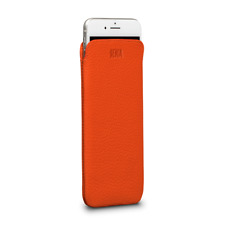 For Apple Iphone 7 (4.7'') Genuine Sena UltraSlim Pouch Orange Leather Case