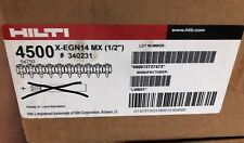 """Case/4500 New Hilti X-EGN14 MX 1/2"""" Collated Nail for GX 120 Part# 340231"""