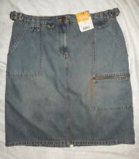 NEW Faded Glory Fashion Collection Denim Pencil Skirt Women's 14 (32 x 22 1/4)
