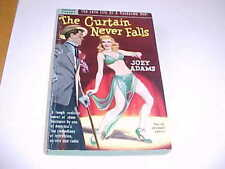 Popular Library 285 Curtain Never Falls Joey Adams SEXY GGA Cover ~1951 2nd Prt