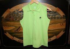 Womens Small Bright Green Sleeveless Golf Polo Shirt Ep Pro Silver Springs Cc