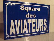 Plaque de rue  AVIATEURS AVIATION AVION  aéronautique  hydravion  hélicoptère
