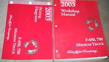 2003 Ford F-650 F650 F-750 F650 750 Medium Truck Service Shop Repair Manual W ED