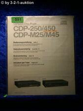 Sony Bedienungsanleitung CDP 250 / 450 / M25 / M45 CD Player (#0591)