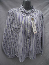 BNWT Women Sz 12 Rivers Brand Regular Fit Purple/Stripe Long Sleeve Shirt RRP$30