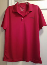 Chaps Mens Red Stay-Dry Custom Fit Short Sleeve Golf Shirt MEDIUM