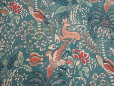 MULBERRY FABRIC 'FANTASIA - TEAL 6.5 METRES (650cm) MODERN COUNTRY COLLECTION