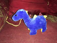 RARE RETIRED LITTLE JELLYCAT BLUE DINKY DINO RATTLE COMFORTER SOFT TOY PLUSH VGC