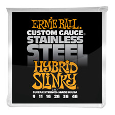 Ernie Ball Hybrid Slinky Stainless Steel Wound Electric Guitar Strings 9-46