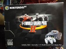 RARE NINTENDO 64 N64 CONSOLE - F1 WORLD GRAND PRIX 2 BOX - TESTED & WORKING