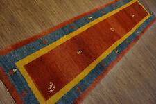 131-Wunderschöner Original Persischer Gabbeh,303x86 cm²,Carpet,Teppich,Tappeto