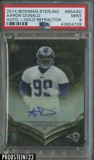 2014 Bowman Sterling Gold Refractor Aaron Donald RC Rookie AUTO /99 PSA 9