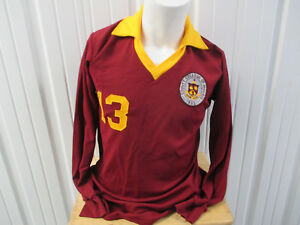 VINTAGE MASCOT COUNTY COLLEGE OF MORRIS TITANS #13 SOCCER SEWN LARGE JERSEY