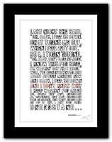 HARUKI MURAKAMI  Pain ❤ typography book quote poster art print inspirational #91