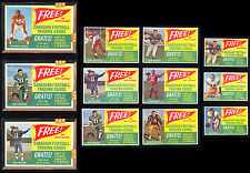1963 Post Cereal CFL Advertising Box Cards - Set of 12 different with 8 HOF'ers