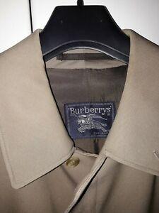 impermeabile trench burberry uomo, tg 54 italiana, in lana