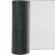 Siena Garden Sechseckgeflecht PVC-grün H:1m L:10 m M:13 mm Gartengeflecht Zaun