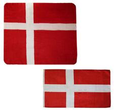 "Wholesale Combo Lot Denmark Country 50""x60"" Fleece & 3'x5' Polyester Flag"
