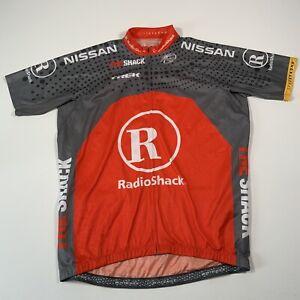 Bontrager Orange & Grey Team Radioshack Full Zip Cycling Jersey - Size 2XL
