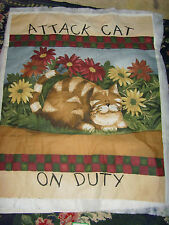 To complete Attack Cat Daisy Kingdom wall quilt with batting backing Rare fabric