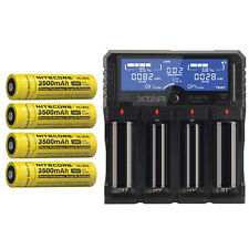 Combo: Xtar DRAGON VP4 Plus -4 Port Charger w/4x NL1835 18650 Batteries