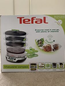 Tefal Vitacuisine Compact Steamer VS4003 With 3 Independent Cooking Bowls - New