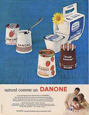 PUBLICITE ADVERTISING 094 1966 Naturel comme un DANONE