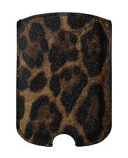 NEW DOLCE & GABBANA Phone Case Brown Leopard Pattern Leather 11.5cm x 8cm