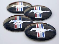 """4x MUSTANG Wheel Center Cap Sticker Emblem Decals For Ford 2.25"""" diameter"""