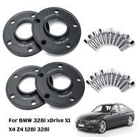 For BMW E90 E91 E92 E46 Z4 Z8 10mm 5x120 PCD Hubcentric Hub Wheel Spacers Black