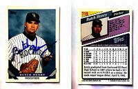 Butch Henry Signed 1993 Topps #719 Card Colorado Rockies Auto Autograph