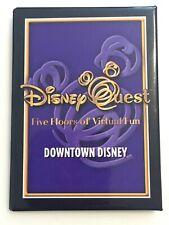 Downtown Disney Quest Button Badge Pin Rare