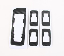 Car Inner door Button carbon fiber stickers Decal For Ford F150 F-150 2015-2017