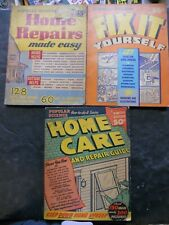 Vintage 1940s Home Repairs, Fix It Yourself, Homecare Home Improvement Books
