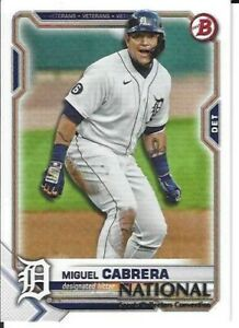 Miguel Cabrera Detroit Tigers  2021 Panini National Convention Card