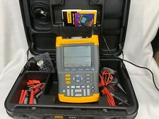 Fluke 192 ScopeMeter Oscilloscope 60 MHz Scope Meter w/Hard Case and Accessories