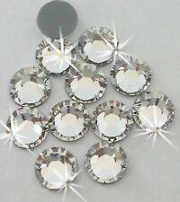 4mm iron-on CLEAR silver Rhinestone diamante bead cardmaking craft diy embellish