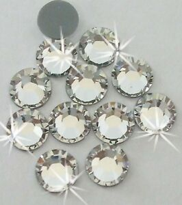 1440 4mm iron-on CLEAR silver Rhinestone diamante bead cardmaking Machine cut