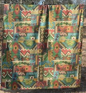 """Southwestern tablecloth muted colors oblong 110x55"""" Ranch-Cabin-Lodge"""