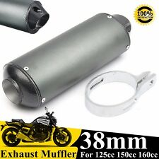 38mm Moto Silencieux échappement Tuyau Exhaust Pour 125 150 160cc ATV Dirt Bike