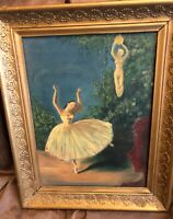 "Original ""Ballerina"" Surrealism Oil Painting Signed By R. Snyder"