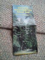 024 Vintage George Washington National Forest Map 1968 Virginia West VA