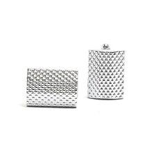 Mens Cuff Links Silver Rectangular Groom Shirts Wedding Gift Formal cufflinks#72