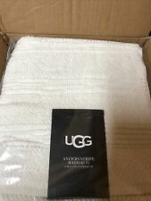 Ugg Anders Stripe Bath Rug White 21 In x 34 In Brand New